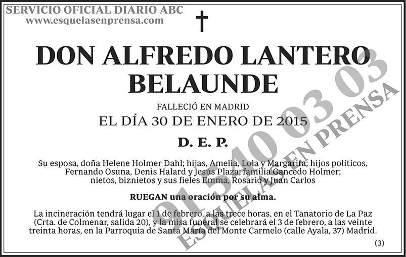 Alfredo Lantero Belaunde